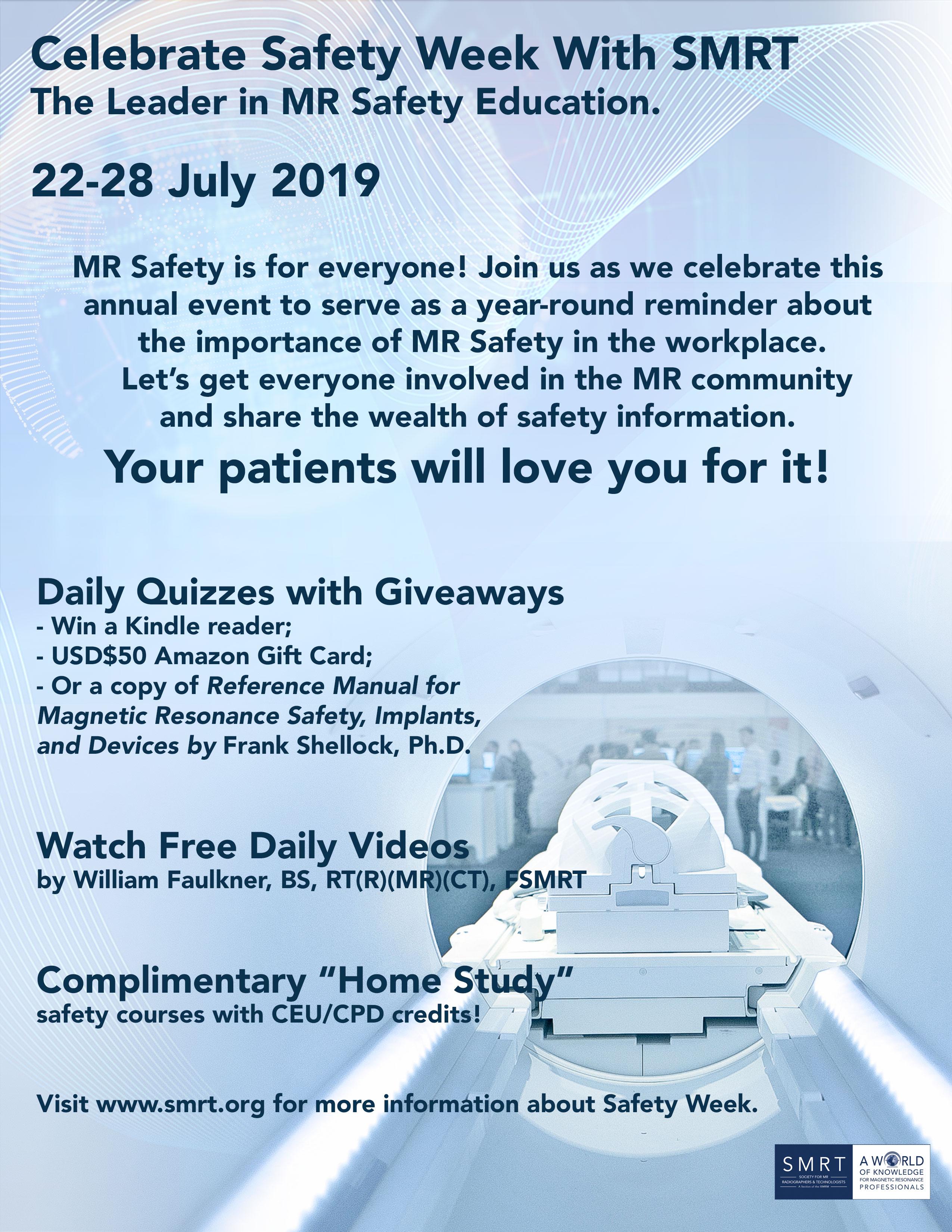 ISMRM - MR Safety Week 2019